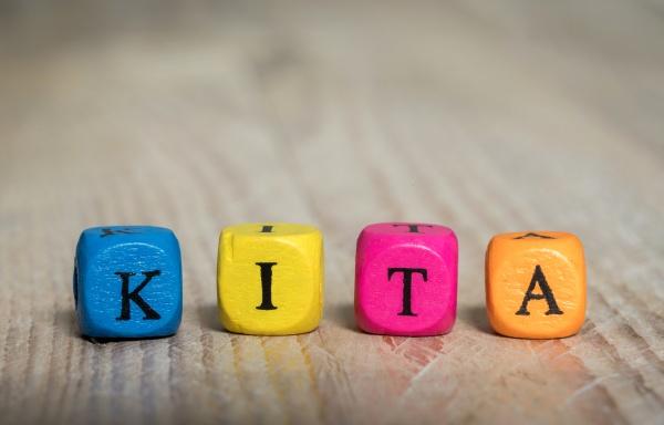 kita in german kindergarten letter cubes