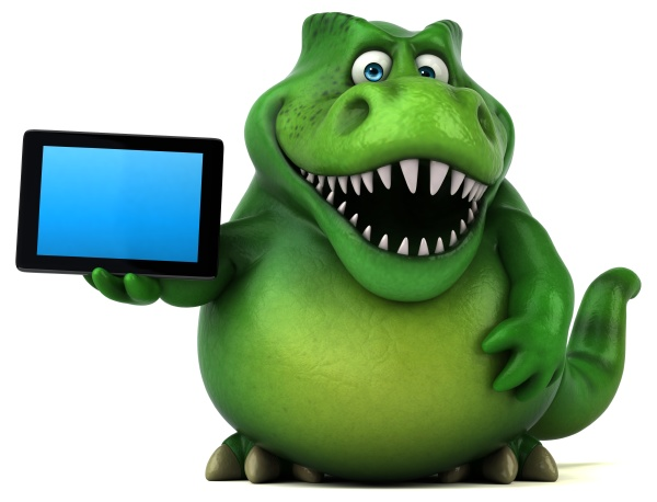 fun dinosaur 3d illustration