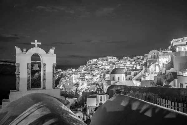 oia town cityscape at santorini island