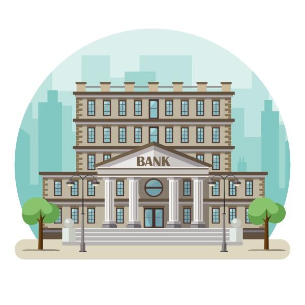 bank building in a big city