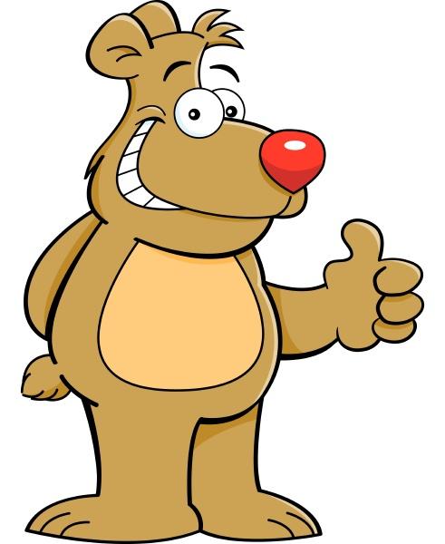 cartoon illustration of a teddy bear