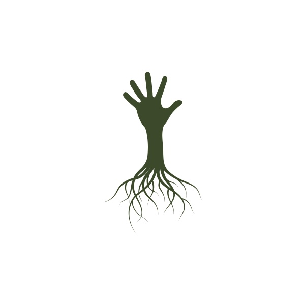 hand root icon logo template