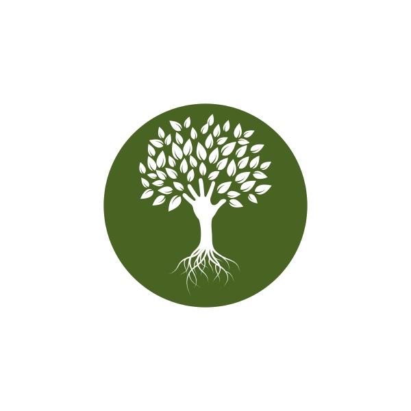 hand tree icon logo template vector