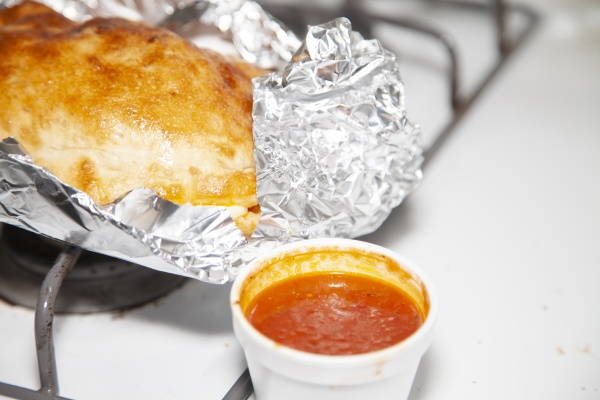 calzone and sauce