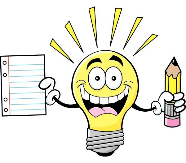 cartoon illustration of a light bulb