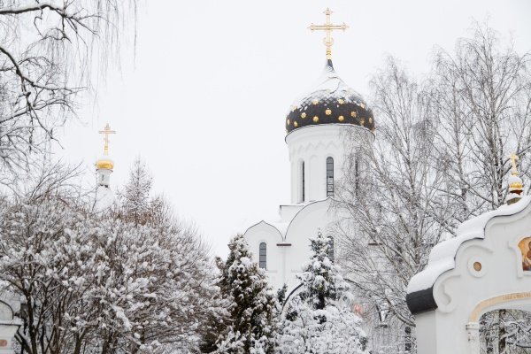 saint elisabeth convent minsk in winter
