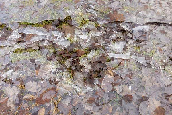 broken fragmented ice
