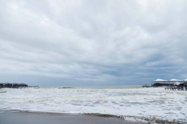storm on sea during bad weather