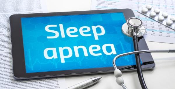 the word sleep apnea on the