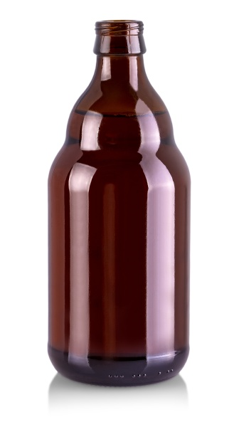 theopened beer bottle isolated on white