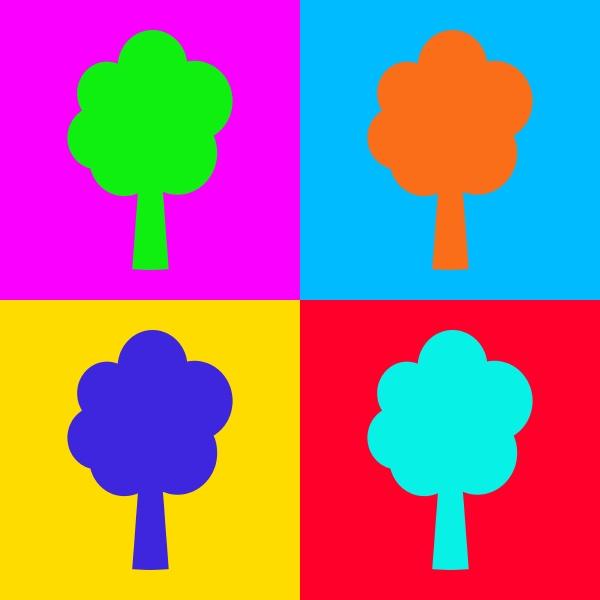 tree and pop art