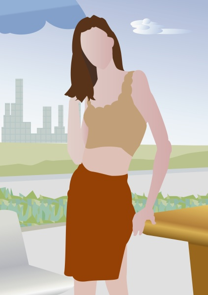 woman standing outdoors