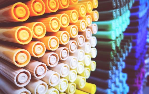 creativity colored pencils in a