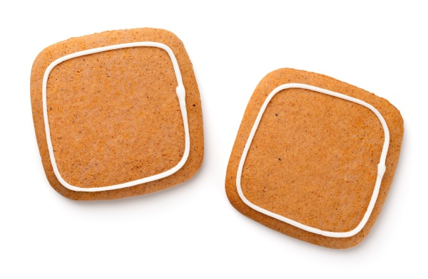 gingerbread cookies in shape of square
