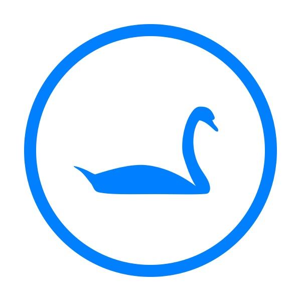 swan and circle