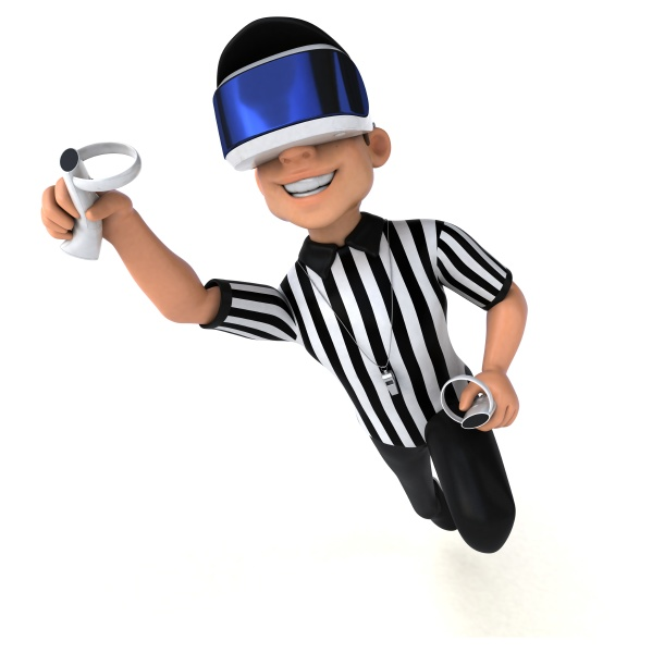 fun 3d illustration of a referee