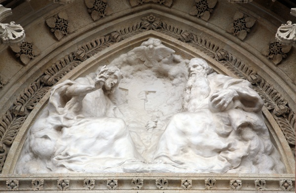 holy trinity on the portal of