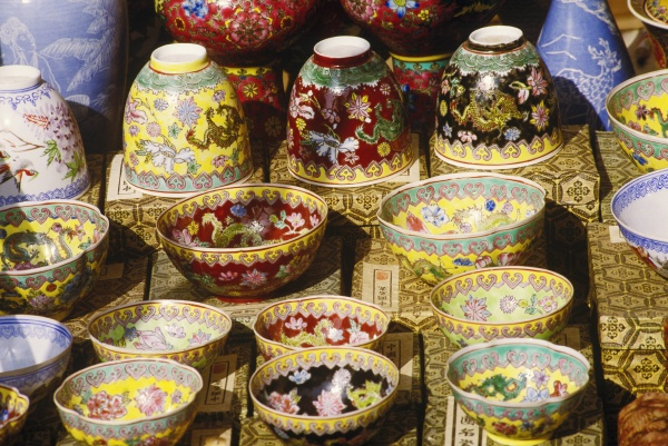 close up of crockery in a