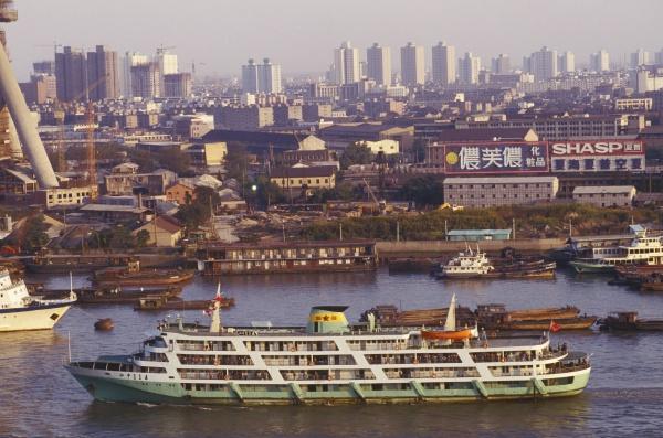 high angle view of a ship