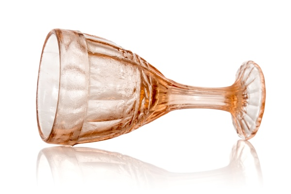 wineglass with reflection