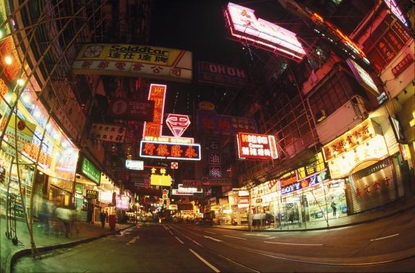 road passing through a city hong