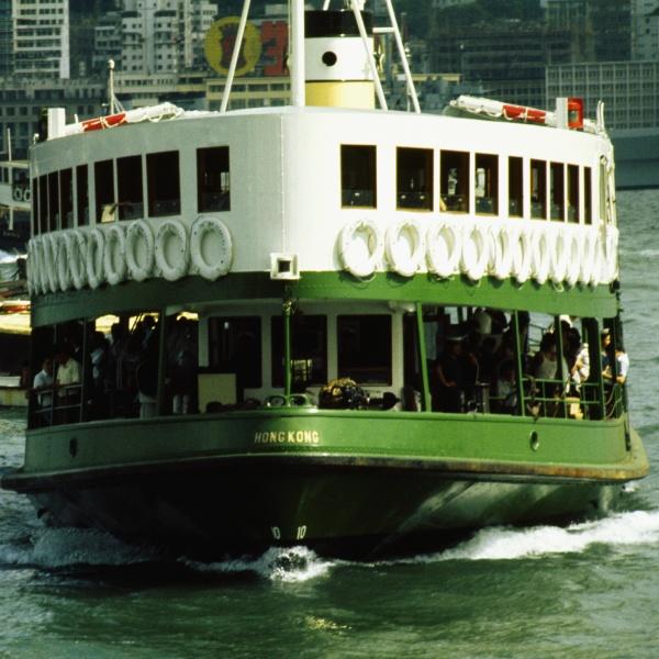 ferry near a harbor victoria harbor