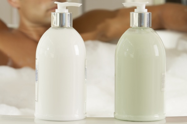 close up of two bottles of