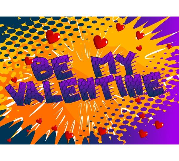 comic book be my valentine greeting