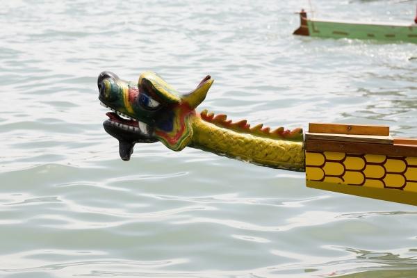 close up of a dragon sculpture