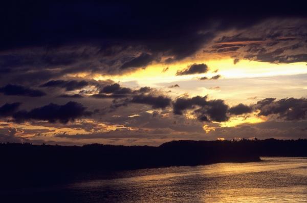 sunset over the sea wakaya