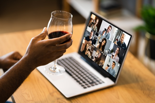online video conference home party call