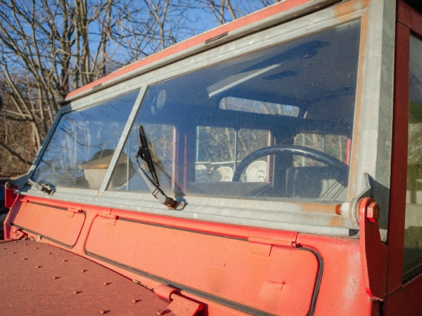 windscreen and wiper of an old