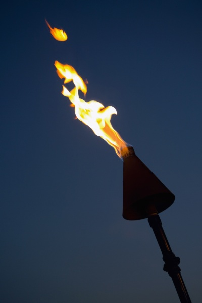 close up of a burning flaming