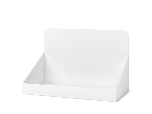 blank cardboard display mockup
