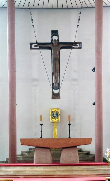 main altar in the church in