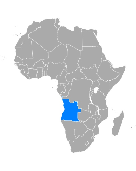 map of angola in africa