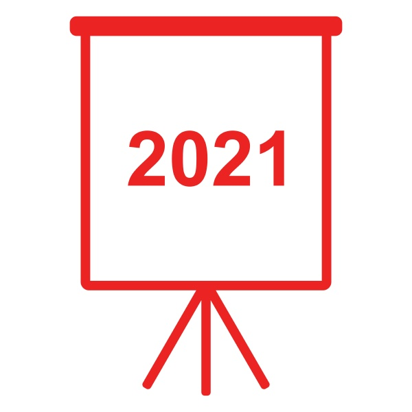 year 2021 and flipchart