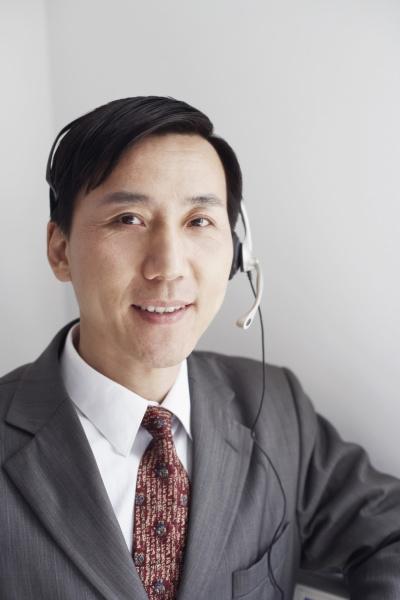 portrait of a customer service representative