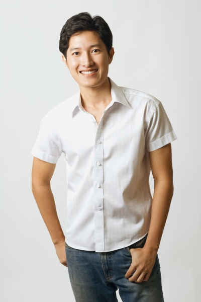 portrait of a young man smiling