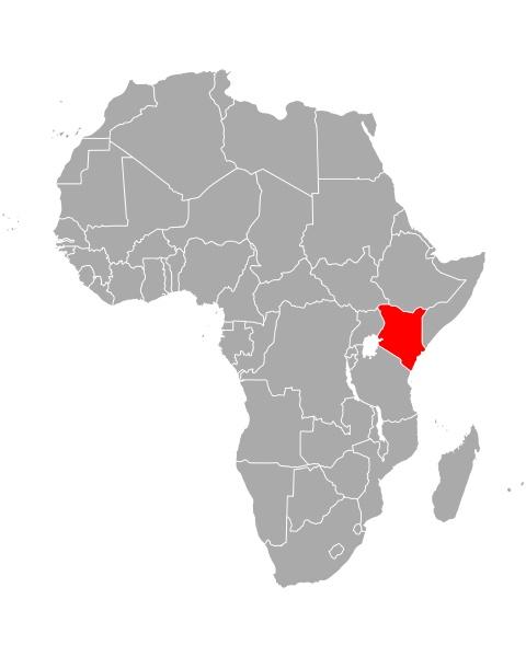 map of kenya in africa
