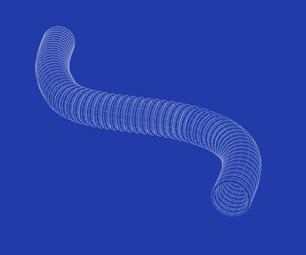 3d model of corrugated pipe
