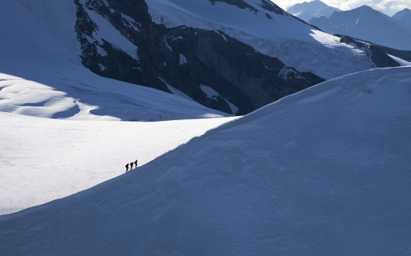 switzerland monte rosa climbers on mountain