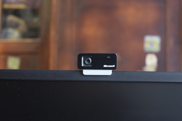 web camera attached to the monitor
