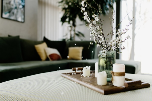 home interior relaxing candles