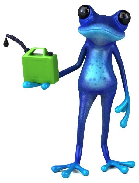 fun blue frog 3d