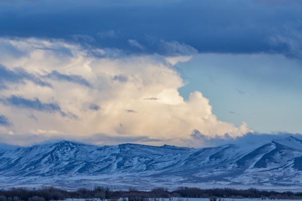 usa idaho fairfield snow dusted mountains