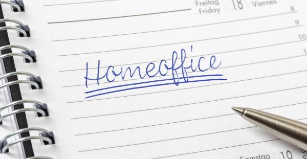 homeoffice written on a calendar page
