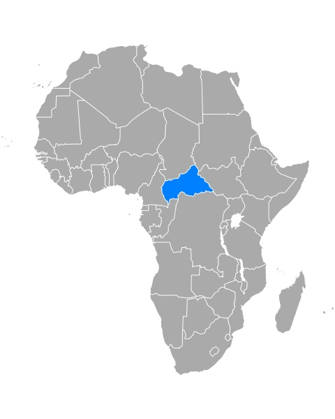 map of central african republic in
