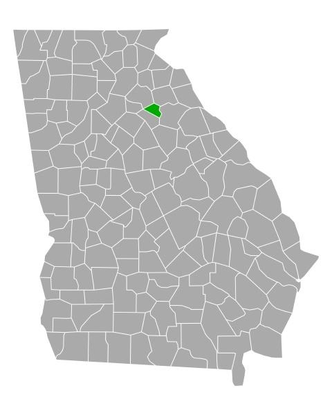 map of clarke in georgia