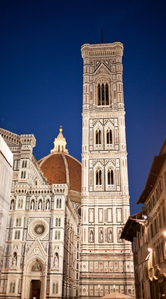 florence cathedral at evening